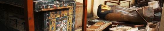 Museo Mallawi (Egipto) tras el saqueo sufrido en agosto de 2013